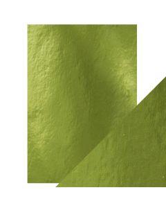 Tonic Studios Craft Perfect Gloss Mirror Card - Holly Green