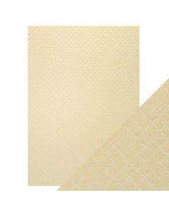 Tonic Studios Craft Perfect Embossed Card - Champagne Harlequin