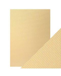 Tonic Studios Craft Perfect Embossed Card - Golden Mosaic