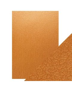 Tonic Studios Craft Perfect Embossed Card - Bronze Labyrinth