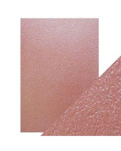 Tonic Studios Craft Perfect Embossed Card - Rose Glacier