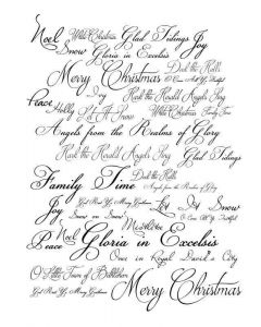 Imagination Crafts Art Stamps 135mm x 91mm - Christmas Script
