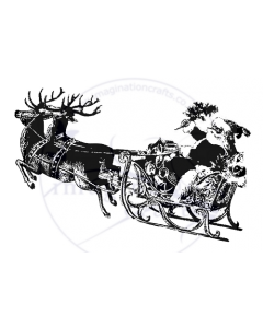 Imagination Crafts Art Stamps 135mm x 91mm - Santa Claus Sleigh