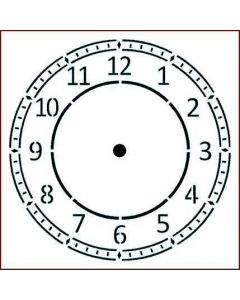 Imagination Crafts Stencil 6x6 - Arabic Clock