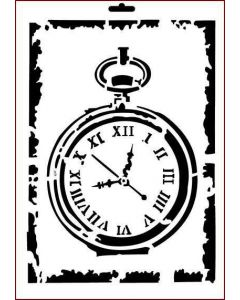 Imagination Crafts A4 Art Stencil - Antique Pocket Watch