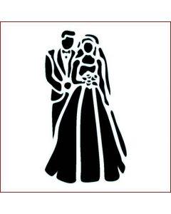 Imagination Crafts Stencil 6x6 - Bride and Groom