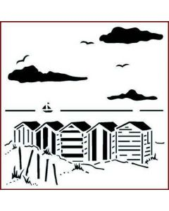 Imagination Crafts Stencil 6x6 - Beach Huts