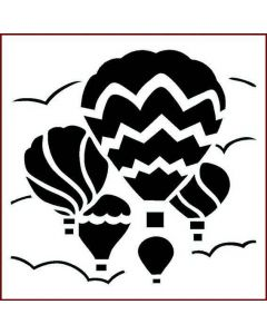 Imagination Crafts Stencil 6x6 - Balloon Sky