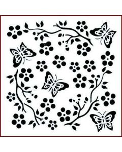 Imagination Crafts Stencil 6x6 - Butterfly Blossom