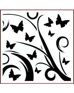 Imagination Crafts Stencil 6x6 - Butterfly Flourish