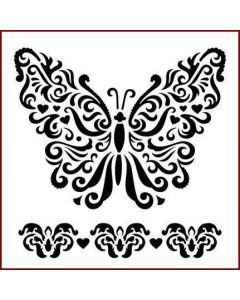 Imagination Crafts Stencil 6x6 - Butterfly with Love