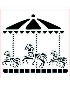Imagination Crafts Stencil 6x6 - Carousel