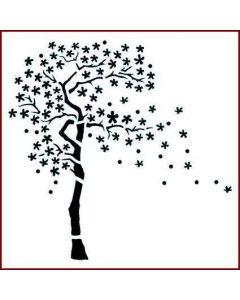 Imagination Crafts Stencil 6x6 - Cherry Blossom Tree