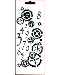Imagination Crafts Art Stencils 25cm x 10cm - Counting Cogs