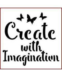 Imagination Crafts Mini Stencil - Create With Imagination