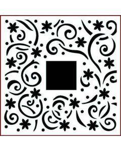 Imagination Crafts Stencil 6x6 - Daisy Swirls Border