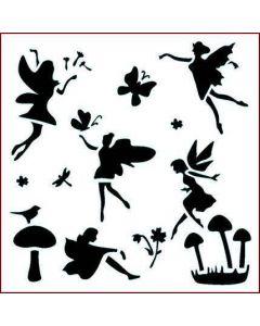 Imagination Crafts Stencil 6x6 - Fairy Carnival