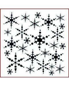 Imagination Crafts 6x6 Christmas Stencil - Snowflakes