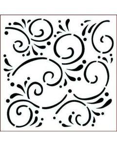 Imagination Crafts Stencil 6x6 - Flourishes