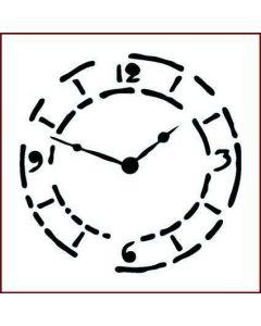 Imagination Crafts Stencil 6x6 - Grungy Clock