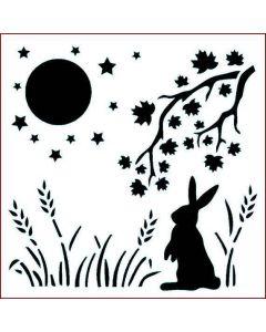 Imagination Crafts Stencil 6x6 - Gazing Hare