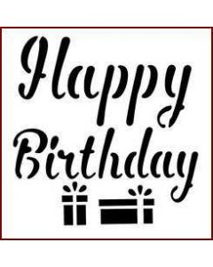 Imagination Crafts Mini Stencil - Happy Birthday
