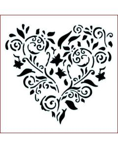 Imagination Crafts Stencil 6x6 - Heart Flower