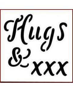 Imagination Crafts Mini Stencil - Hugs & xxx