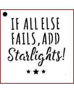 Imagination Crafts Mini Stencil - If All Else Fails, Add Starlights