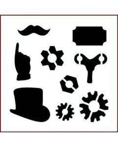 Imagination Crafts Stencil 6x6 - Key and Fob