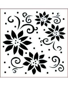 Imagination Crafts Stencil 6x6 - Lily Flourishes