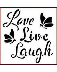 Imagination Crafts Mini Stencil - Love Live Laugh