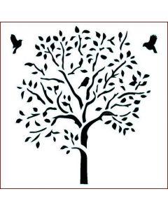 Imagination Crafts Stencil 6x6 - Leafy Tree
