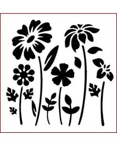 Imagination Crafts Stencil 6x6 - Modern Flowers