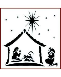 Imagination Crafts 6x6 Christmas Stencil - Nativity