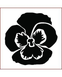 Imagination Crafts Stencil 6x6 - Pansy Large Flower