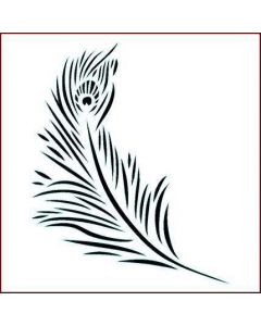 Imagination Crafts Stencil 6x6 - Peacock Feather