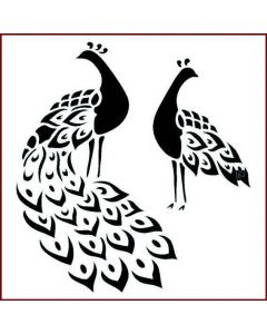 Imagination Crafts Stencil 6x6 - Peacocks