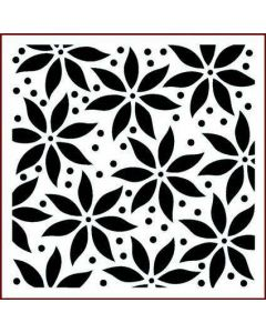 Imagination Crafts Stencil 6x6 - Poinsettia Large