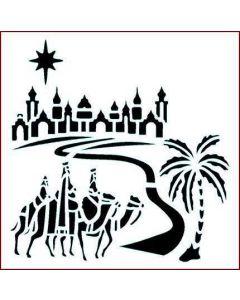 Imagination Crafts 6x6 Christmas Stencil - Road To Bethlehem