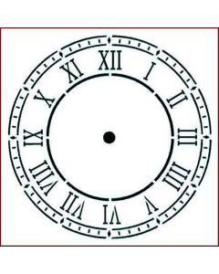 Imagination Crafts Stencil 6x6 - Roman Clock