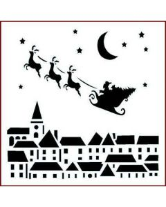 Imagination Crafts 6x6 Christmas Stencil - Rooftops