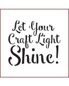 Imagination Crafts Mini Stencil - Let Your Craft Light Shine