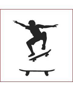Imagination Crafts Stencil 6x6 - Skateboard Boy