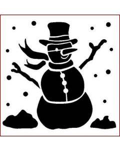 Imagination Crafts 6x6 Christmas Stencil - Snowman