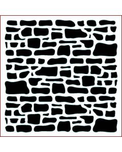 Imagination Crafts Stencil 6x6 - Stone Wall