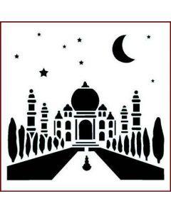 Imagination Crafts Stencil 6x6 - Taj Mahal