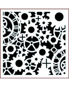 Imagination Crafts Stencil 6x6 - Time and Motion