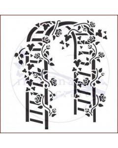 Imagination Crafts Stencil 6x6 - Trellis Arch
