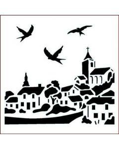 Imagination Crafts Stencil 6x6 - Village
